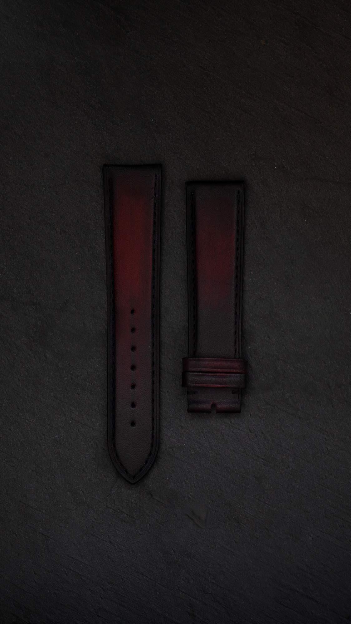 montre beaubleu bracelet painte rouge