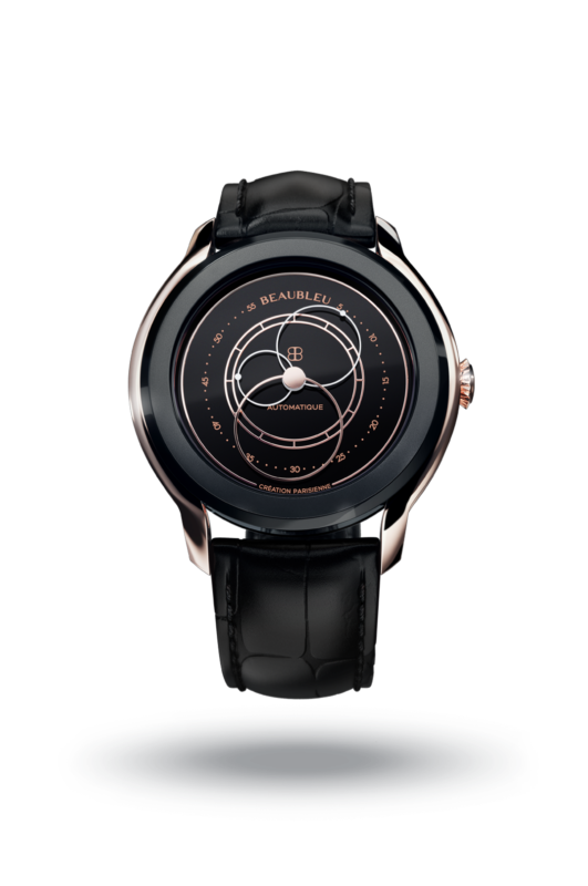 Beaubleu Union collection circular hands automatic watch Black Audace