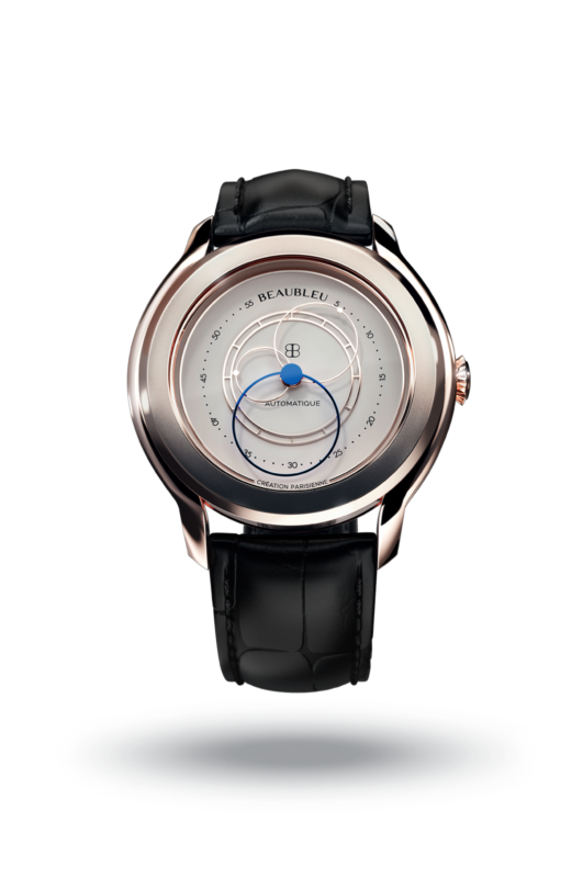 Beaubleu Union collection blued steel circular hands automatic watch Olympe