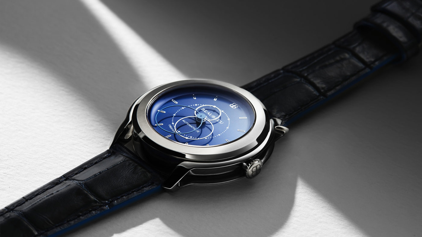 Beaubleu Union collection circular hands automatic watch Klein Blue Brio