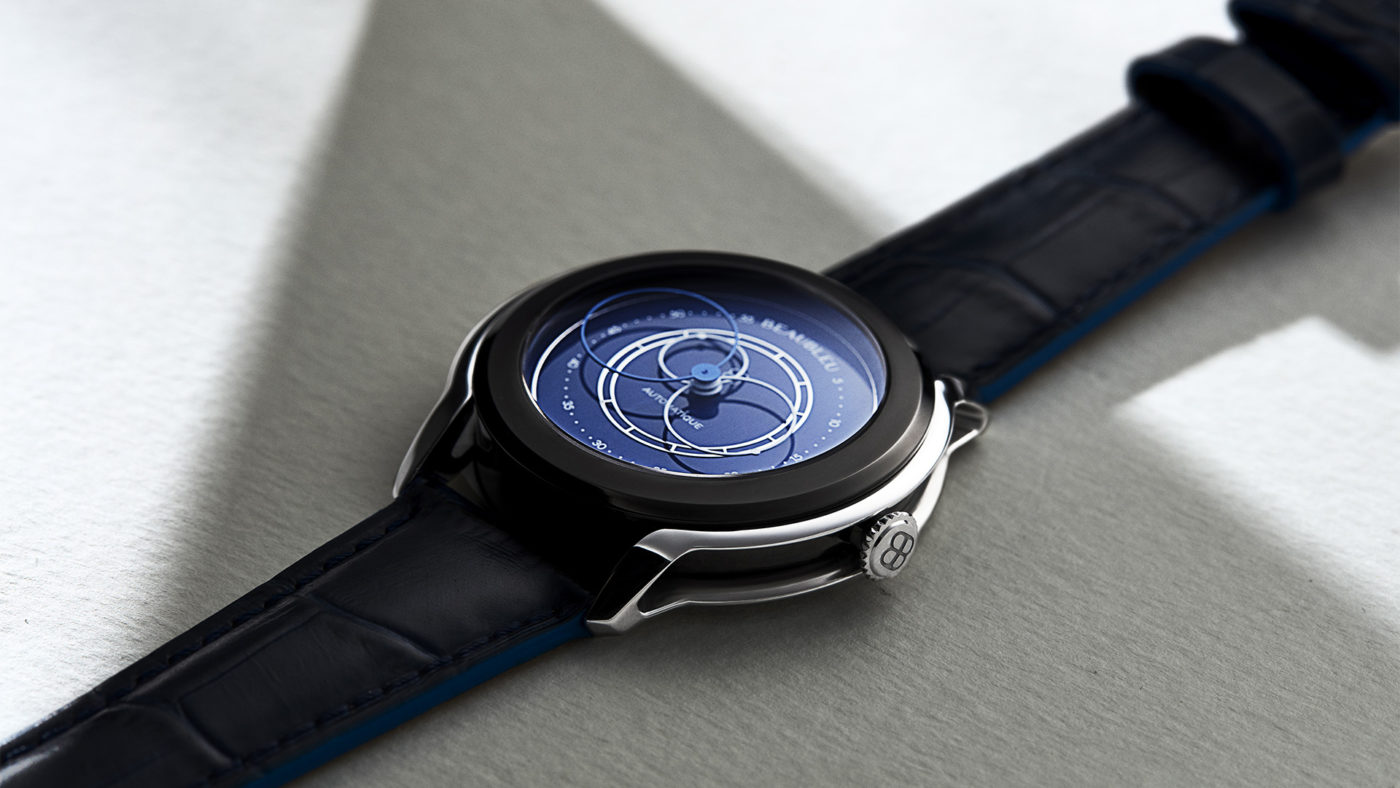 Beaubleu Union collection circular hands automatic watch Klein Blue Intrepide