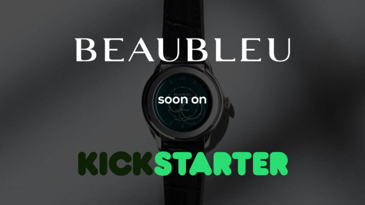 Beaubleu Union collection circular hands automatic watch on Kickstarter