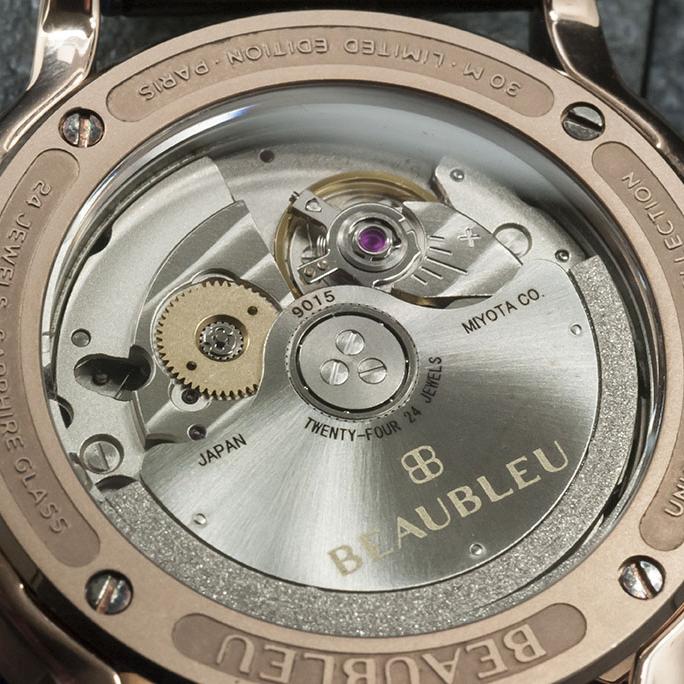 Montre Beaubleu collection union mouvement automatique miyota 9015
