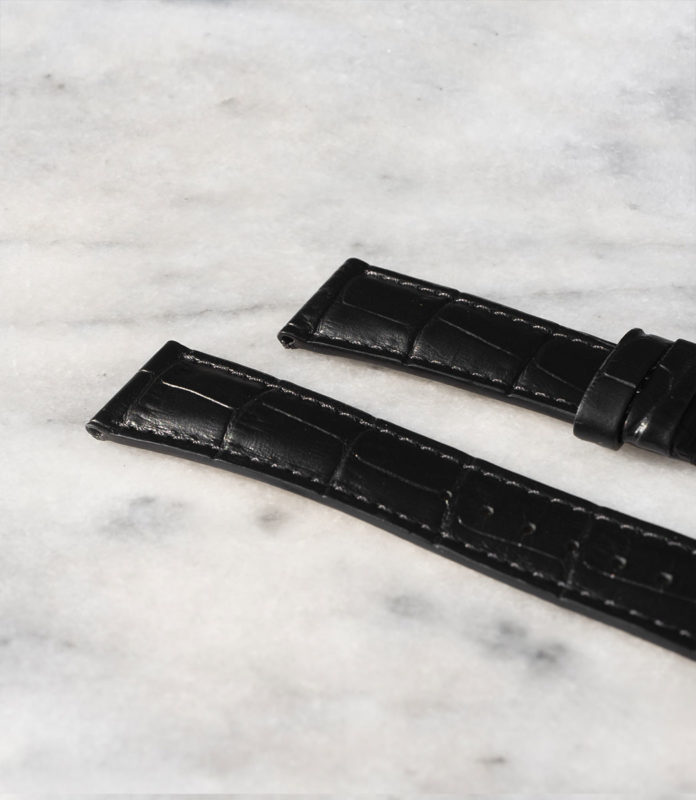 Beaubleu union collection black leather watch strap