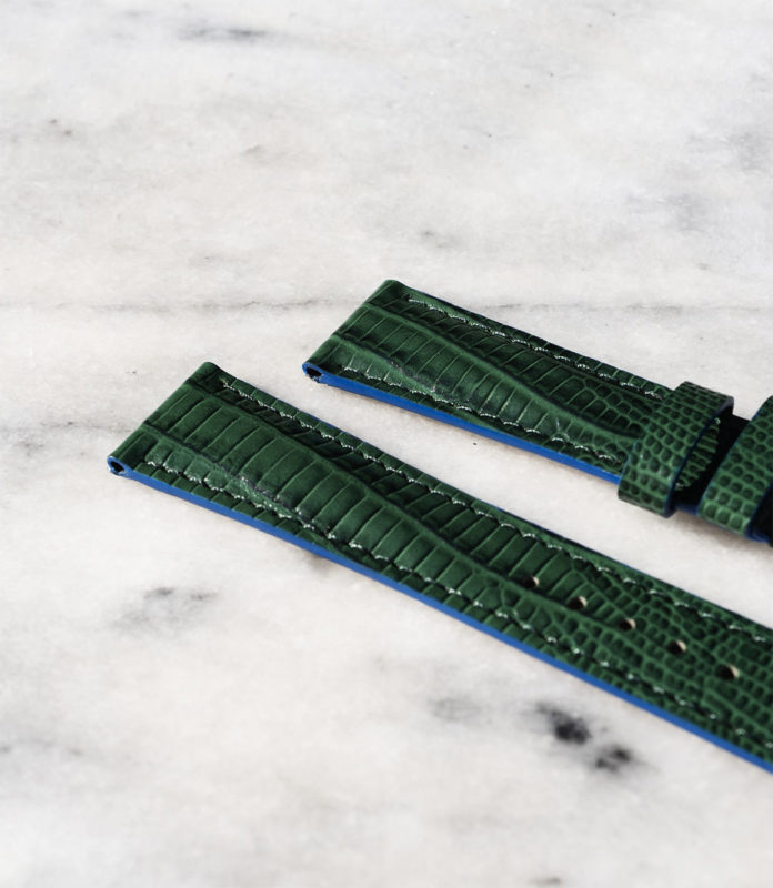 beaubleu union collection green leather watch strap