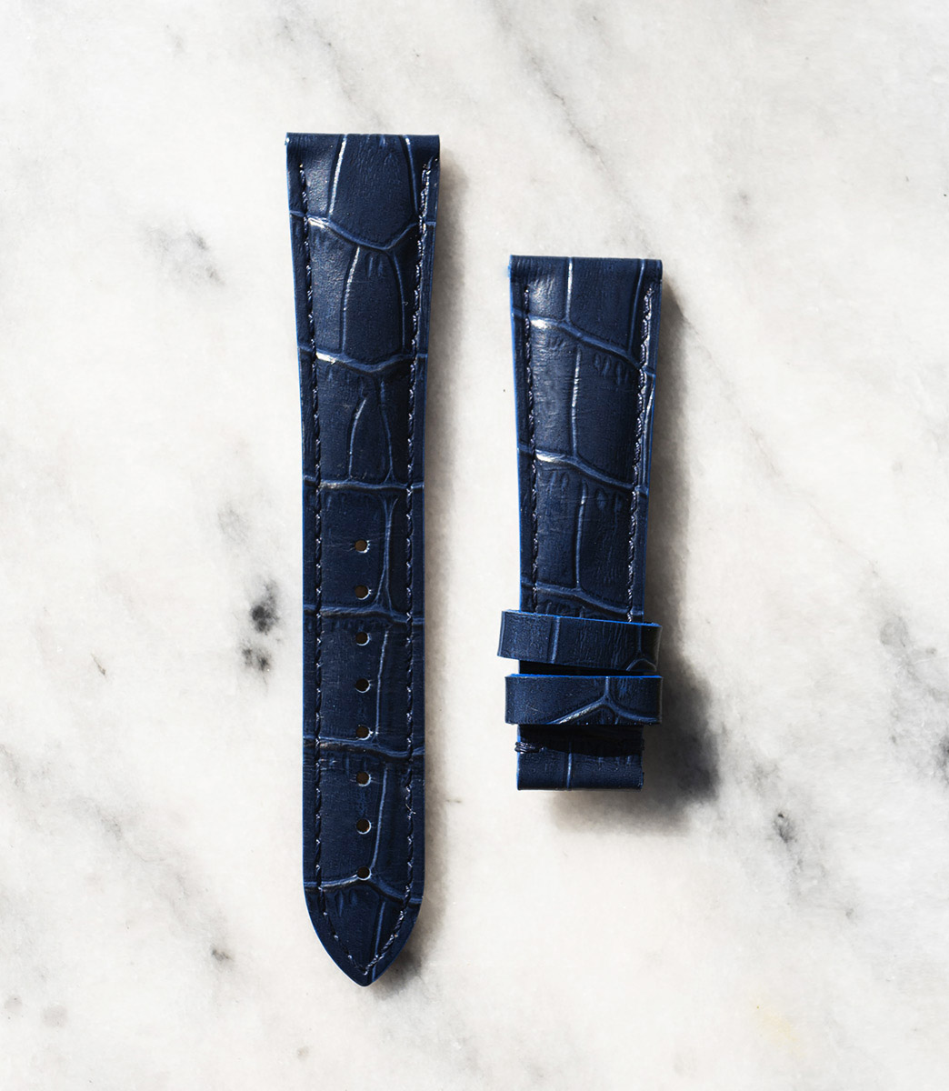beaubleu union collection blue leather watch strap