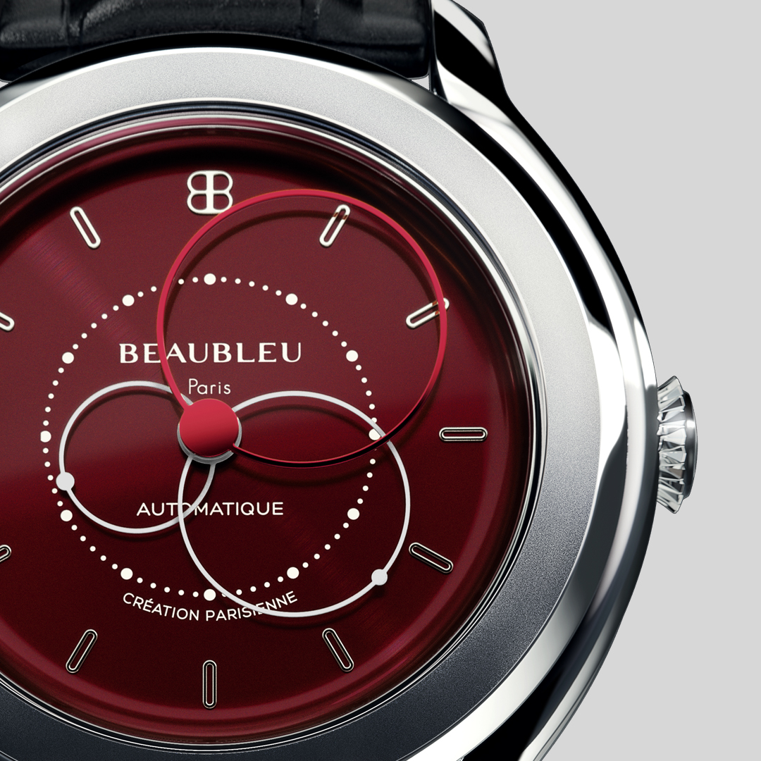 beaubbleu review red dial with automatic movement