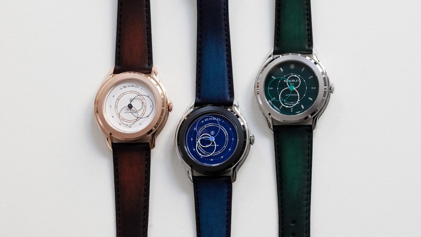 Beaubleu limited edition collection of patina leather straps handmade in France for automatic watches